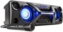 Ultrasonic BT Boombox Bluetooth 2x 20W LCD display karaoke-funktion svart
