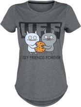 Ugly Dolls - UFF Ugly Friends Forever -T-skjorte - gråmelert