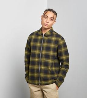 Stussy Zip Shadow Skjorta, Grön