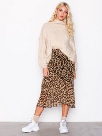 Midiskjørt - Leopard NLY Trend Leo Mesh Skirt
