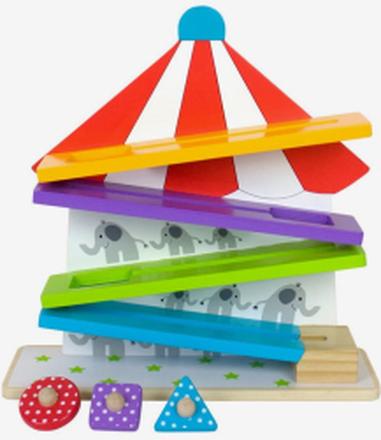 Jabawood cirkusbana i trä, färgglad