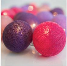 Ljusslinga Vivid Violet, 20 bollar