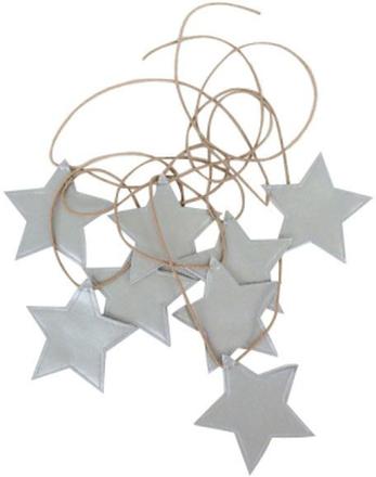 Girlang stjärnor silver