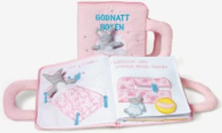 Godnatt boken, rosa med svensk text