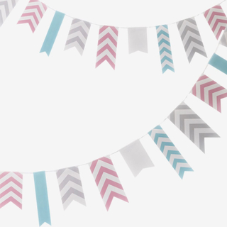 Vimpel flaggor, pastell