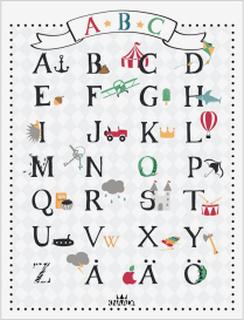 Alfabetstavla ABC, 30,5x40 cm