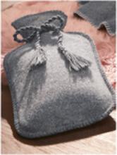 Värmeflaska i 100% ren ny ull från Giesswein grå