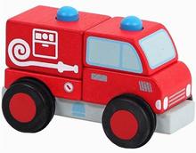 Houten Blokken Brandweerauto