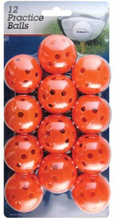 Intech Golf Practice Balls with Holes, 12 Pack (White)
