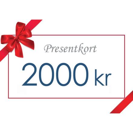 Gavekort - Värde 2000 kr inkl moms