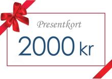 Presentkort - Värde 2000 kr inkl moms