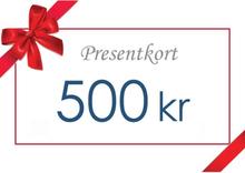 Presentkort - Värde 500 kr inkl moms