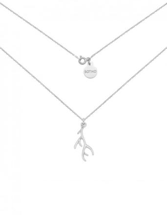 Naszyjnik srebrny z porożem jelenia