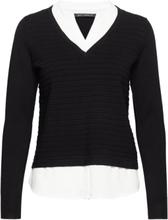 Knitted Pullover Long 1/1 Slee Strikket Genser Svart Betty Barclay