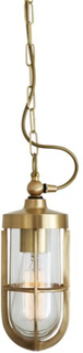 Mullan Lighting Oregon a taklampa - Polished brass,crackled glass