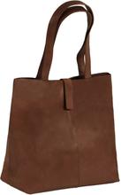 vidaXL Shoppingväska äkta läder brun