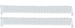 Skosnöre Spiral Lazy White