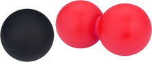 Avento Lacross-/massageboll set rosa och svart