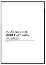 Personlig poster, Personligt citat (21x30 cm)