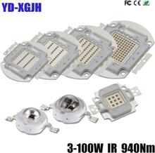 IR 940nm 3W 5W 10W 20W 30W 50W 100W High Power LED ChipInfrared 940Nm Emitter Lamp Light Bead COB 3 5 10 20 30 50 100 W Watt