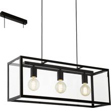 Eglo Charterhouse Tak Sort / Glass 3 Lyskilder