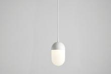 Dot pendant, large white