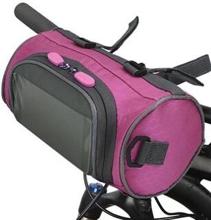Cykelstyr taske Cykel spand taske med berøringsskærm Vandtæt cykel front opbevaringspose Stor kapacitet Cykel frontpakke