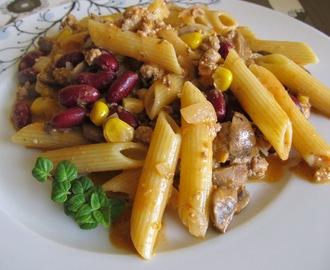 recipe: zapiekanka makaronowa z mięsem mielonym i pieczarkami [39]