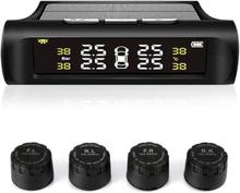 eStore TPMS Trådlöst Däcktrycksövervakningssystem, Solcell och USB