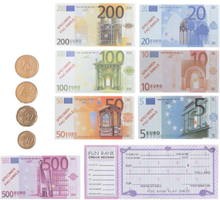 Play Money - Kassaregister med Euro Pengar