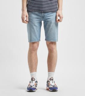 Levis 501 Hemmed Shorts, Blå