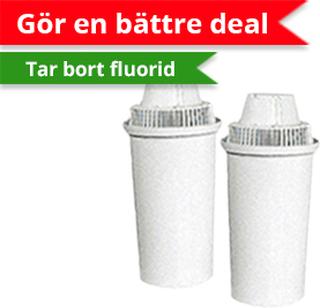 2 st Fluorid vattenfilterpatroner till Clearly filtreringskanna-Vattenrenare