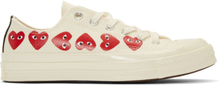 Comme des Garcons Play Off-White Converse Edition Multiple Hearts Chuck 70 Sneakers
