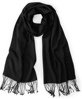 Halsduk för kvinnor i 100% kashmir från Peter Hahn Cashmere svart