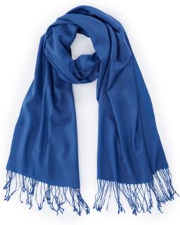 Halsduk för kvinnor i 100% kashmir från Peter Hahn Cashmere blå