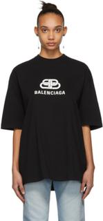 Balenciaga Black Oversized BB Balenciaga T-Shirt