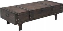 vidaXL Soffbord massivt trä vintagestil 120x55x35 cm