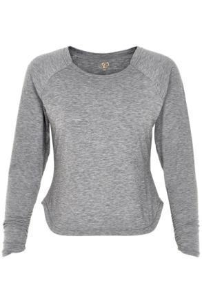 Amalie Long Sleeve (Färg: Grå, Storlek: 3XL)