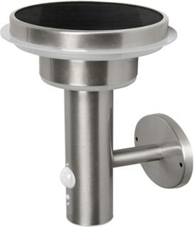 LEDvance Endura Solar væglampe m/solcelle sensor, stål