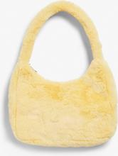 Faux fur shoulder bag - Yellow