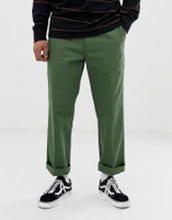 Obey Hardwork work trouser in vintage green - Green