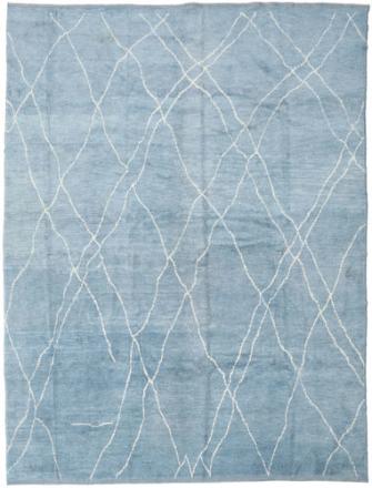 Handknotted Berber Shaggy matta 287x365 Modern Matta