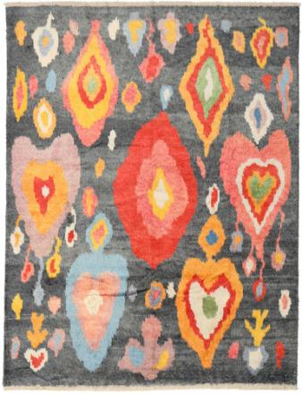 Handknotted Berber Shaggy matta 234x301 Modern Matta