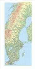 Sverigekarta i rör 60x140 cm
