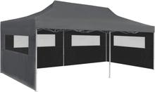 vidaXL Pop-Up hopfällbart partytält med sidoväggar 3x6 m antracit