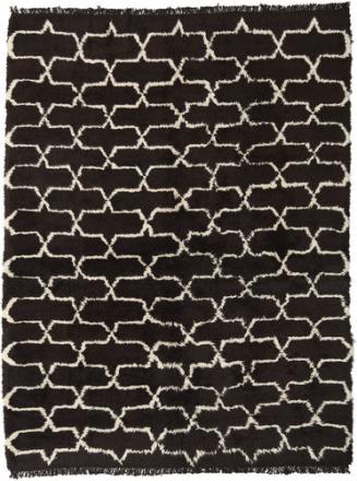 Handknotted Berber Shaggy matta 245x320 Modern Matta
