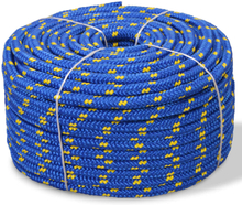 vidaXL Båtlina i polypropylen 10 mm 250 m blå
