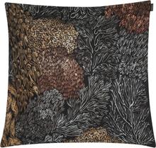 Marimekko Poronjäkälä tyynynpäällinen 50 x 50 cm, musta-ruskea-harmaa