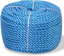 vidaXL Tvinnat rep i polypropylen 14 mm 250 m blå