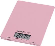 Clatronic KW 3626 LCD Köksvåg digital Vägningsområde=5 kg Rosa